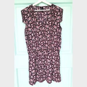 MNG by Mango Chiffon floral dress elastic waist